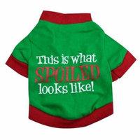 Mosunx Christmas Pet Dog Puppy Clothes Cotton Double Color Letter Shirt Clothes