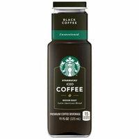 Starbucks Iced Coffee Unsweetened Black Premium Coffee Beverage 11 Fluid Ounces 8 Pack Glass Bottles