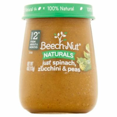 Beech-Nut Naturals Baby Food Spinach & Zucchini - 4oz (Pack of 4)
