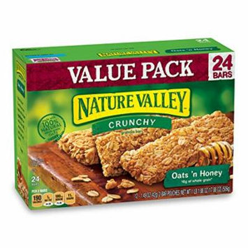 Nature Valley Granola Bars, Crunchy, Oats and Honey, 1.49 Ounce , 12 Count (Pack of 6)