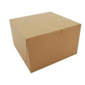 Southern Champion Tray 09455K Kraft Paperboard Non Window Lock Corner Bakery Box, 8