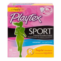4 Packs Playtex Sport Tampons Regular Unscented 18 Count Each