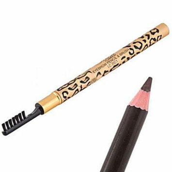 Waterproof Leopard Shell Brown Eyebrow Pencil with Brush Make Up CosmeticTool