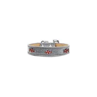 Peppermint Widget Dog Collar Silver Ice Cream Size 20