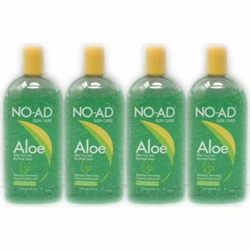(4-Pack) NO-AD Sun Care After Sun Aloe Gel 16Fl oz Each
