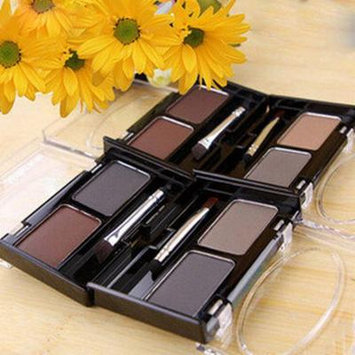 2 Colors Natural Eyebrow Powder Cosmetic Brush Eyebrow Cake Makeup Palette Set