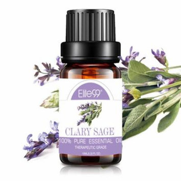 Elite99 10ML Clary Sage Essential Oil 100% Pure & Natural Aromatherapy Oils For Diffuser,Massage,Relaxation