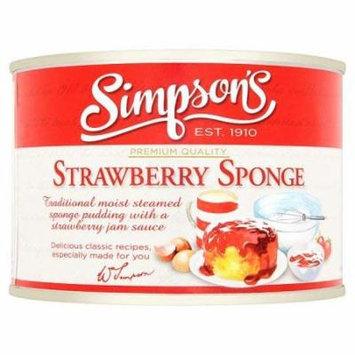 Simpson Strawberry Tin Sponge Pudding 300g (Pack of 6)