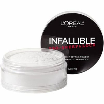 4 Pack - L'Oreal Paris Infallible Pro Sweep & Lock Loose Setting Powder, Translucent 0.28 oz