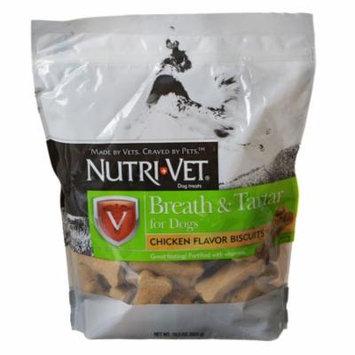 Nutri-Vet Breath & Tartar Biscuits 19.5 oz - Pack of 2
