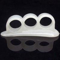 2Pcs Silica Gel Toe Separators Stretchers Alignment Bunion Pain Relief Feet Care