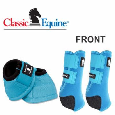 LRG CLASSIC EQUINE LIGHTWEIGHT LEGACY2 FRONT DYNO BELL HORSE BOOTS TURQUOISE