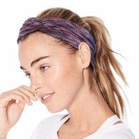 Cross Headband-Women Headbands Moisture-wicking Yoga Head Wraps Stretchy Workout Head Bands Fashionable Cross Headband, Set of 6