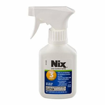 3 Pack NIX Lice Control SPRAY for Furniture Bedding Kills Lice Bedbugs 5oz Each