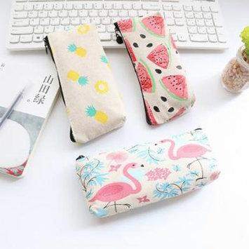 Fashion Fruit Print Pencil Pen Case Cosmetic Makeup Bag Zipper Stationery Pouch