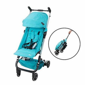 Babyroues Traveler Stroller, Fits In Airplane Overhead Bin, Large Canopy, Full Recline, One Hand Pull Handle, Weighs ONLY 10LBS, Compact, Perfect From Newborn To 4 Years Old (Teal)