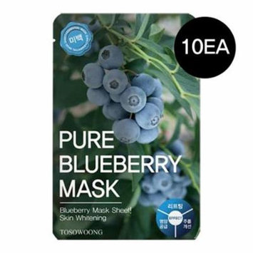 (10pcs) ToSoWoong Beauty Innovation Pure BlueBerry Mask / Lifting/ Intensive Moisture/ Anti-wrinkle 10sheets