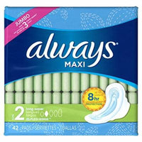 3 Packs Always Maxi Long Super Flexi-Wings Pads 42 count Each