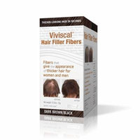 6 Pack Viviscal Hair Filler Fibers For Men & Women Dark Brown/Black 0.53 oz