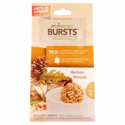 Enviroscent Bursts Amber Woods Wax Melt Alternative, 2.1 Oz (Pack of 10)