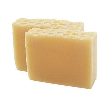 Gold Dusted Honey Doll Handmade Artisan Luxury Gift Soap Bar 2 Pack by Score Soap