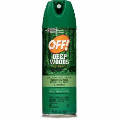 4 Pack OFF! Deep Woods Long Lasting Insect Repellent V Aerosol 6 Oz Each