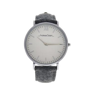 Andreas Osten Ao-194 Toutes - Silver/Grey Tweed Leather Strap Watch Watch For Women 1 Pc