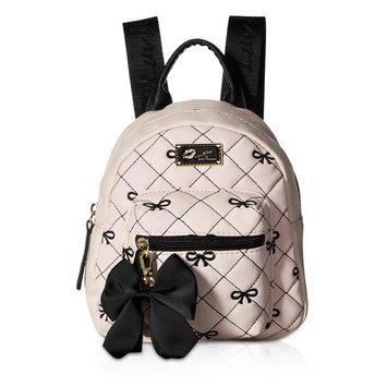 Luv Betsey Johnson Ador Mini Small Travel Luggage Backpacks Purse Bookbag Tote Bag - Rose Bud