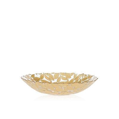 Vietri Nature Glass Leaf Medium Bowl