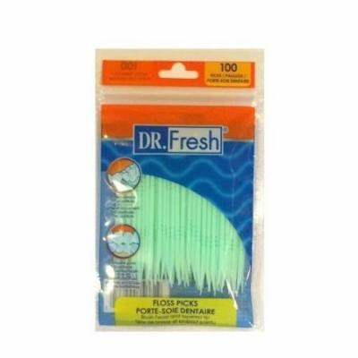 8 Pack Dr. Fresh Dental Floss Picks Soft Bristles Toothpicks 100 Count each
