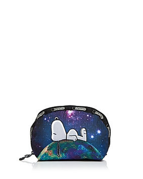 Peanuts x LeSportsac Medium Dome Cosmetic, Snoopy Doghouse, 1 ea