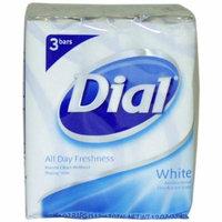 4 Pack Dial Antibacterial Deodorant Soap 4oz Bars White 3 Each
