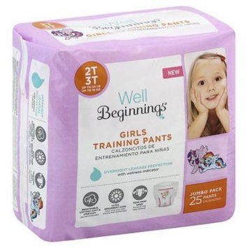 Well Beginnings Girls Training Pants 2T/3T25.0 ea(pack of 3)