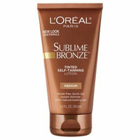 L'Oreal Paris Sublime Body Expertise Bronze Tinted Self-Tanning Lotion,Medium5.0 fl oz(pack of 6)