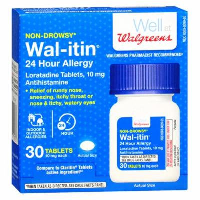 Walgreens Wal-itin Non-Drowsy 24 Hour Allergy Relief Tablets30.0 ea(pack of 3)