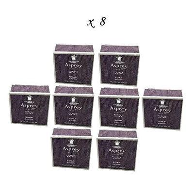 LOT: 8 Travel Size Asprey London Purple Water Soap - 1.05 Ounces