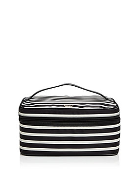Kate Spade New York Micah Nylon Cosmetics Case, Size One Size - Black/ Clotted Cream
