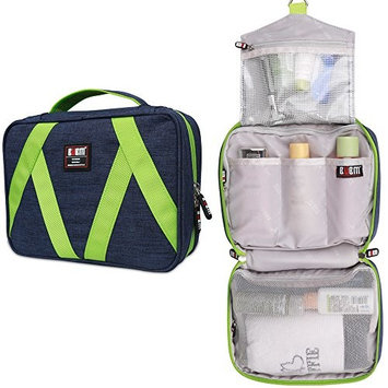 BUBM Hanging Toiletry Bag Travel Toiletry Kit for Men Women Cosmetics Rugged & Water Resistant with Mesh Pockets & Sturdy Hanging Hook Shower Bag