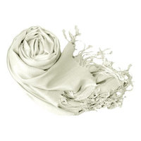 Peach Couture Soft and Silky Bamboo Rayon Luxurious Eco-Friendly Shawl (Silver)