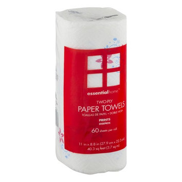 Essential Home Two-Ply Paper Towels Prints 1.0 CT