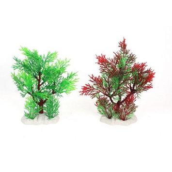 2pcs Plastic Artificial Fish Tank Decoration Water Plant Ornament