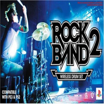 Electronic Arts Rock Band 2 Wireless Drum Set (for PlayStation 3 and PlayStation 2)