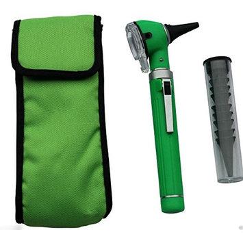 Compact Pocket Size Fiber ENT Optic Otoscope Green Color