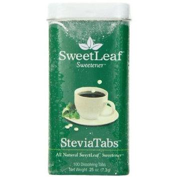SweetLeaf SteviaTabs Sweetener, 100 Tabs (Pack of 4)