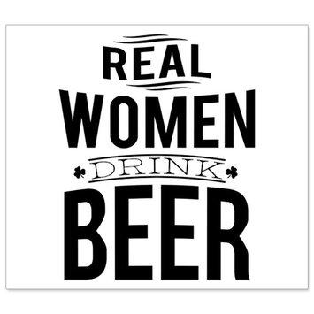 Beer Bottle Labels - Real Women Drink Beer - Set of 6