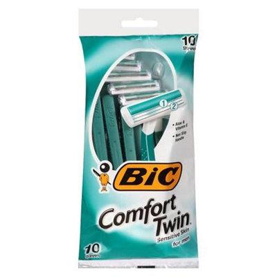 BiC Comfort Twin Sensitive for Men, Disposable Shaver 10.0 ea(pack of 6)