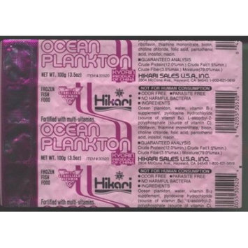 Hikari Sales U.s.ainc Fish & Aquatic Supplies Ocean Plankton Cubes