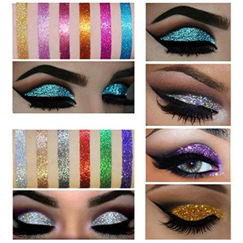 VERONNI Shimmer Glitter Eye Shadow Powder Palette Matte Eyeshadow Cosmetic Makeup By DMZing (ES-02)