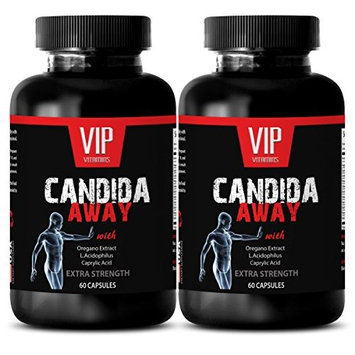 Anti candida - CANDIDA AWAY - Anti yeast supplements - 2 Bottles 120 Capsules