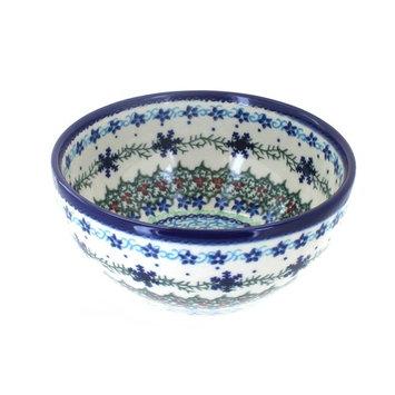 Polish Pottery Winter Celebration Cereal/Soup Bowl